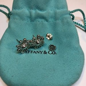 TIFFANY Daisy Flower  Picasso Silver 925 Earrings